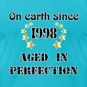 on earth since 1998 T-Shirts - Men's T-Shirt by American Apparel