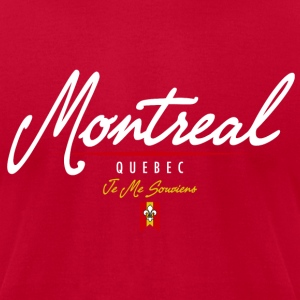 Montreal Script American Apparel T-Shirt - Men's T-Shirt by American Apparel