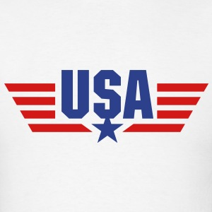 USA Star and Stripes Wings - Men's T-Shirt