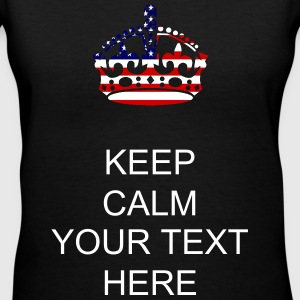 stars and stripes crown Women's T-Shirts - Women's V-Neck T-Shirt