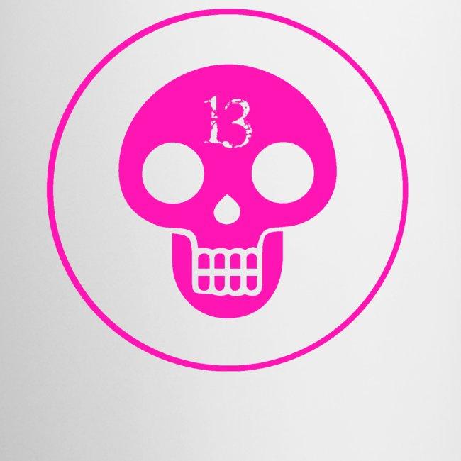 Pink skull Cathedral 13 mug