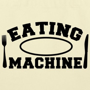 EATING MACHINE! with knife and fork and plate Bags  - Eco-Friendly Cotton Tote