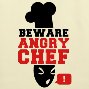 BEWARE angry CHEF! with a speech bubble ! Bags  - Eco-Friendly Cotton Tote