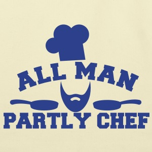 ALL MAN partly CHEF  Bags  - Eco-Friendly Cotton Tote