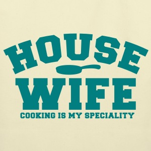 HOUSE WIFE job cooking is my speciality Bags  - Eco-Friendly Cotton Tote