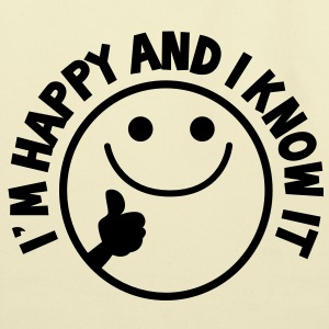 I'm HAPPY and I know it with thumbs up smiley Bags  - Eco-Friendly Cotton Tote