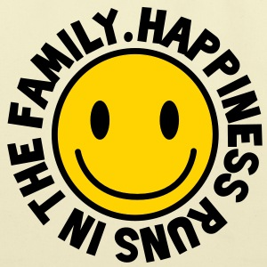 HAPPINESS runs in the FAMILY smiley Bags  - Eco-Friendly Cotton Tote