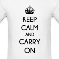 Design ~ KEEP CALM AND CARRY ON - MENS TSHIRT