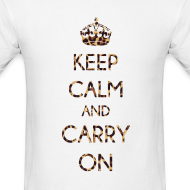 Design ~ KEEP CALM AND CARRY ON LEOPARD PRINT - MENS TSHIRT