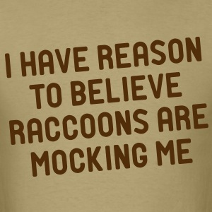 Moccing Raccoons - Men's T-Shirt