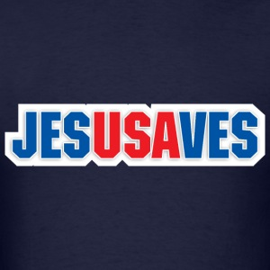 Jesus Saves USA - Men's T-Shirt