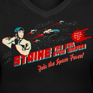 Join the Space Force (darkshirt) Women's T-Shirts - Women's V-Neck T-Shirt