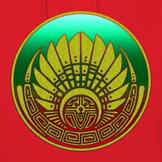 Crop circle - Mayan mask - Silbury Hill 2009 - Quetzalcoatl - Native Americans - Aztec - Venus - 2012 - Symbol New Age / Hoodies