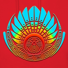 Crop circle - Mayan mask - Silbury Hill 2009 - Quetzalcoatl - Native Americans - Aztec - Venus - 2012  / Hoodies
