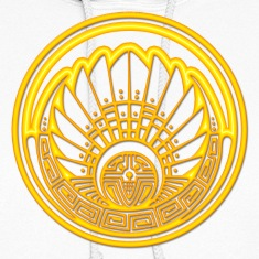 Crop circle - Mayan mask - gold - Silbury Hill 2009 - Quetzalcoatl - Native Americans - Aztec - Venus - 2012 - Symbol New Age / Hoodies