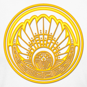 Crop circle - Mayan mask - gold - Silbury Hill 2009 - Quetzalcoatl - Native Americans - Aztec - Venus - 2012 - Symbol New Age / Long Sleeve Shirts - Women's Long Sleeve Jersey T-Shirt