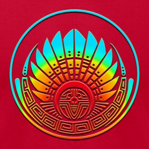 Crop circle - Mayan mask - Silbury Hill 2009 - Quetzalcoatl - Native Americans - Aztec - Venus - 2012 - icon new age / T-shirts (manches courtes) - T-shirt pour hommes American Apparel