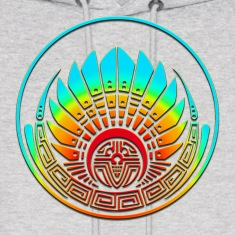 Crop circle - Mayan mask - Silbury Hill 2009 - Quetzalcoatl - Native Americans - Aztec - Venus - 2012 - icon new age / Hoodies