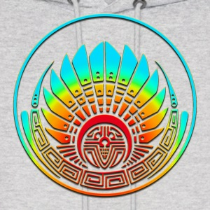 Crop circle - Mayan mask - Silbury Hill 2009 - Quetzalcoatl - Native Americans - Aztec - Venus - 2012 - icon new age / Hoodies - Men's Hoodie