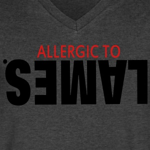 ALLERGIC TO LAMES. T-Shirts - Men's V-Neck T-Shirt by Canvas