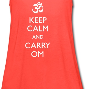 """KEEP CALM AND CARRY OM"" Yoga Racerback Tank For Women - Women's Flowy Tank Top by Bella"