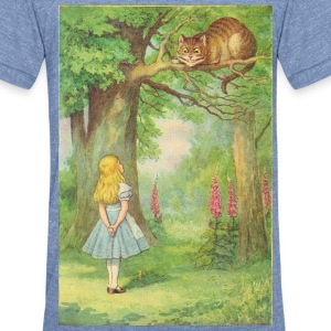 The Cheshire-Cat T-Shirts - Unisex Tri-Blend T-Shirt by American Apparel