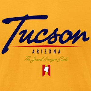 Tucson Script American Apparel T-Shirt - Men's T-Shirt by American Apparel