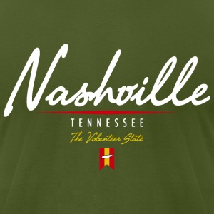 Nashville Script American Apparel T-Shirt - Men's T-Shirt by American Apparel