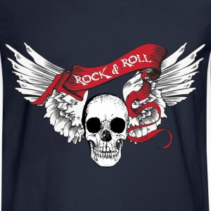 Rock n Roll Skull Wings Long Sleeve Shirts - Men's Long Sleeve T-Shirt