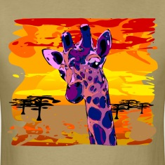 african giraffe violett colored- digital T-Shirts
