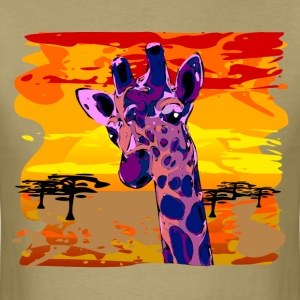 african giraffe violett colored- digital T-Shirts - Men's T-Shirt