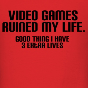 Video Games Ruined My Life Standard - Men's T-Shirt