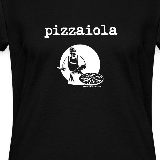 Women's Italian Pizza Maker Tshirt - pizzaiola shirt - black