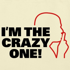 Im The Crazy One 3 (2c)++ Bags  - Eco-Friendly Cotton Tote