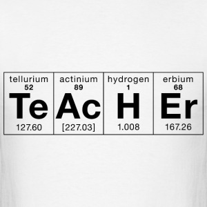 Teacher Made of Elements - Men's T-Shirt
