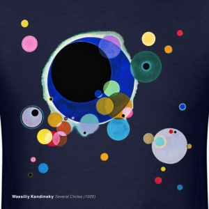 Wassily Kandinsky, Several Circles T-Shirts - Men's T-Shirt