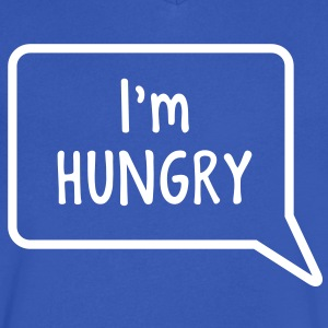 I'm hungry tummy stomach design T-Shirts - Men's V-Neck T-Shirt by Canvas