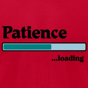 patience loading... T-Shirts - Men's T-Shirt by American Apparel