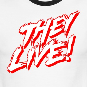 They Live Stacked (AA Ringer) - Men's Ringer T-Shirt