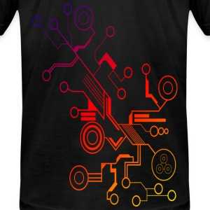 Colorful Circuit LARGE PRINT T-Shirts - Men's T-Shirt by American Apparel
