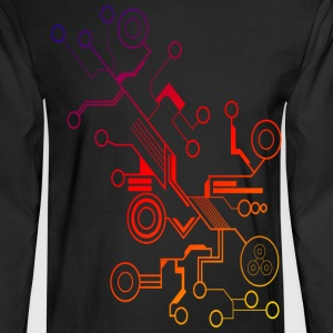 Colorful Circuit LARGE PRINT Long Sleeve Shirts - Men's Long Sleeve T-Shirt