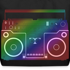Rainbow Ghetto Blaster Bags  - Eco-Friendly Cotton Tote