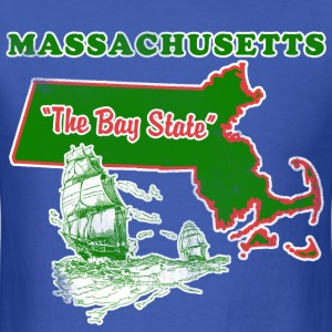 Massachusetts: The Bay State. Mens vintage T - Men's T-Shirt