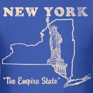 New York, The Empire State Mens vintage T - Men's T-Shirt