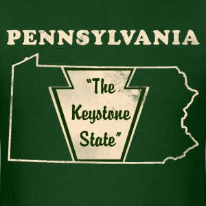 Pennsylvannia, The Keystone State men's vintage T - Men's T-Shirt