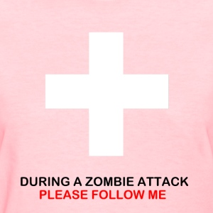 During A Zombie Attack Tee - Women's T-Shirt