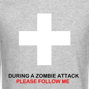 During A Zombie Attack Crewneck - Crewneck Sweatshirt