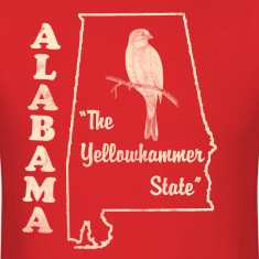 Alabama, The Yellowhammer State men's vintage T