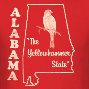 Alabama, The Yellowhammer State men's vintage T - Men's T-Shirt