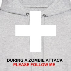 During A Zombie Attack Hoodie